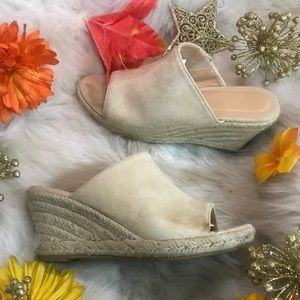 Wanted suede wedges